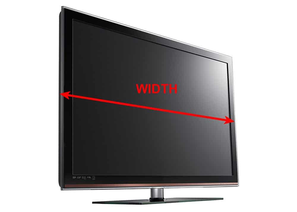Measure tv width