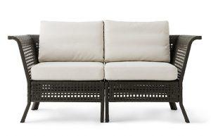 ikea-ikea-kungsholmen-black-brown-beige-two-seat-outdoor-sofa